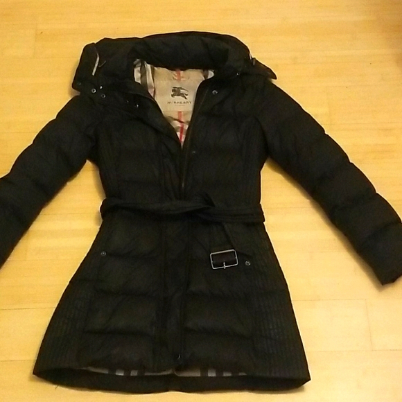 Authentic Burberry London Belted Puffer Coat